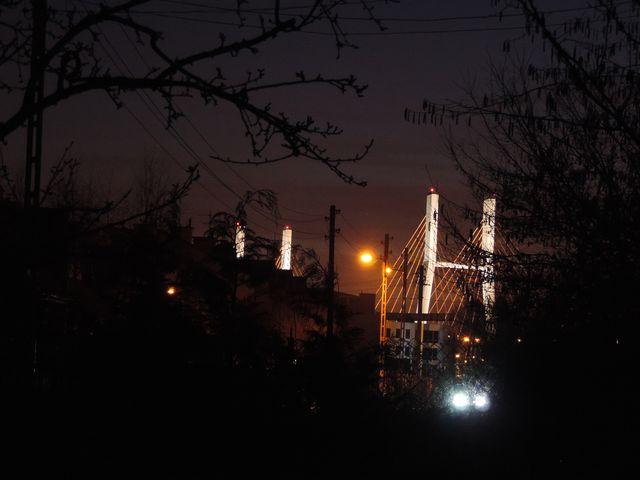 Wieczorny widok z ogrodu