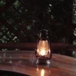 Lampa naftowa w altance