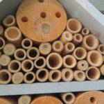 Domek dla owadów zamieszkany