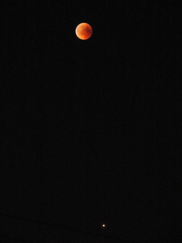 Raz na 25 tys. lat - wielka opozycja Marsa i Zaćmienie Księżyca razem