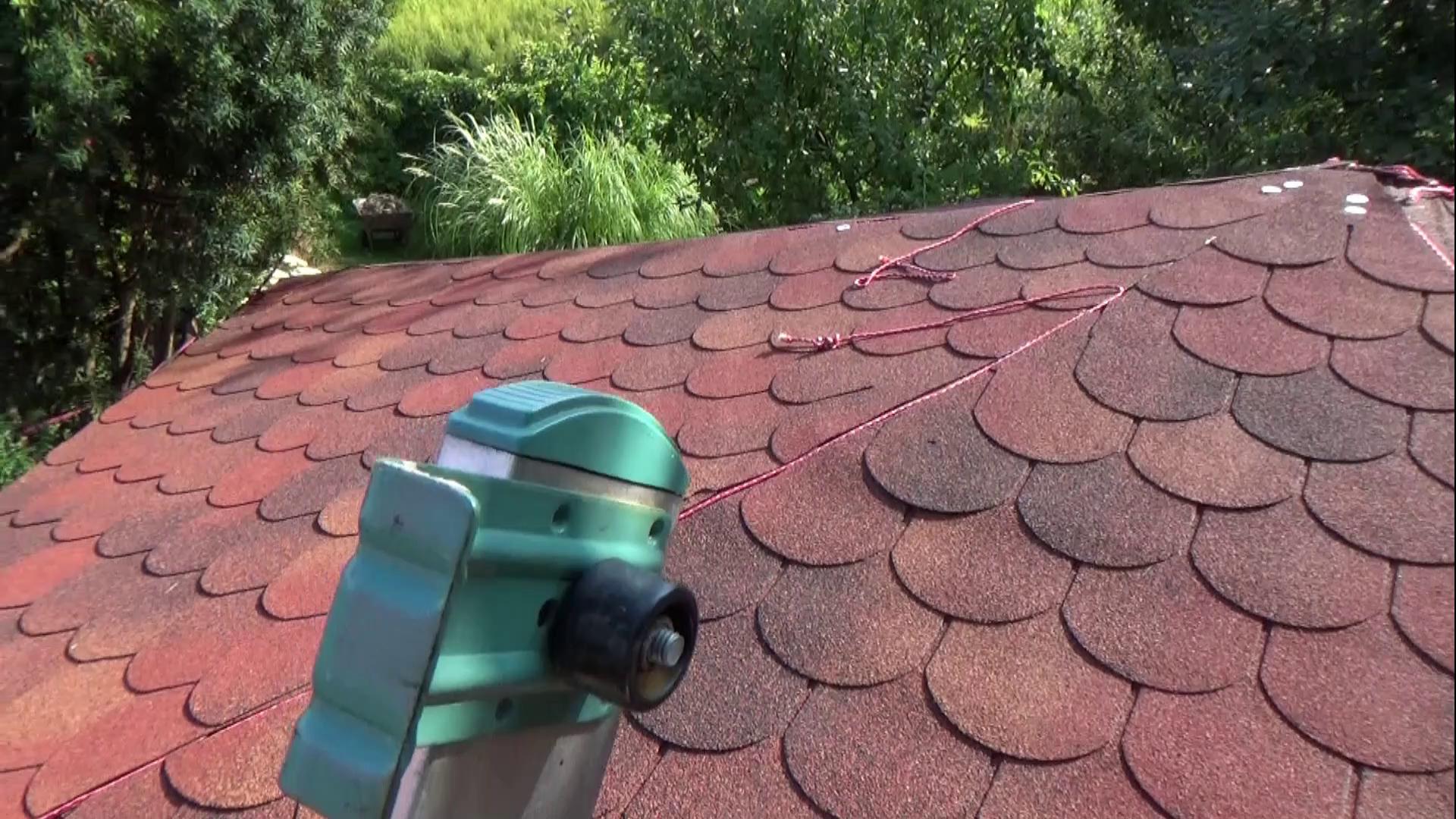 pokrycie dachu altanki gontem papowym