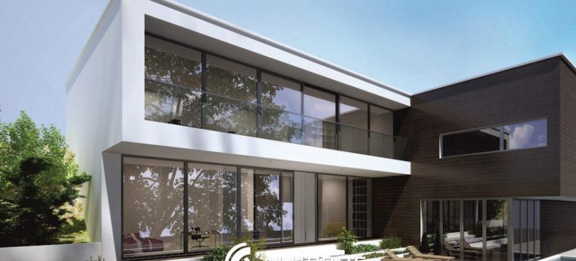 ślusarka aluminiowa w domu jednorodzinnym